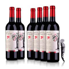 法国(原瓶进口)法圣古堡天使树干红葡萄酒750ml(6瓶装)+酒刀