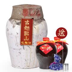 【买一送四】绍兴黄酒古越龙山纯正花雕酒坛装原酒10kg 糯米老酒可长期保存
