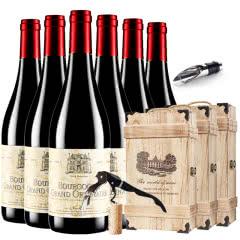 法国勃艮第原瓶进口红酒勃艮第葛郎AOP黑皮诺干红葡萄酒红酒整箱木盒装 750ml*6