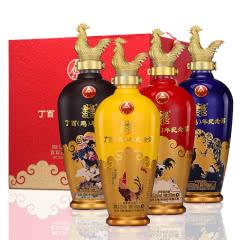 五粮液股份公司丁酉鸡年生肖纪念酒52°度浓香型白酒整箱礼盒装500ML*4