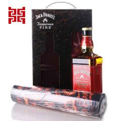 35°美国杰克丹尼田纳西州威士忌火焰杰克力娇酒+鼠标垫礼盒装
