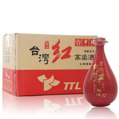 52°台湾玉山红高粱酒红瓷瓶陈酿浓香台湾白酒500ml整箱(6瓶装)