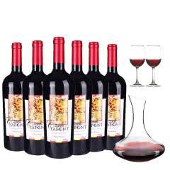 智利原瓶进口拉芙德干红葡萄酒整箱750ml*6