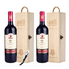 买一支送一支 法国进口红酒宾露酒庄红钻干红葡萄酒750ml礼盒装