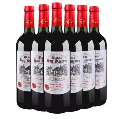法国原瓶原装进口红酒 AOC级波尔多法定产区法兰骑士田园干红葡萄酒750ml(6瓶装)