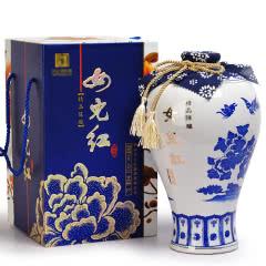 绍兴黄酒女儿红花雕酒精品十年陈1L青花瓷礼盒装送礼黄酒礼盒装