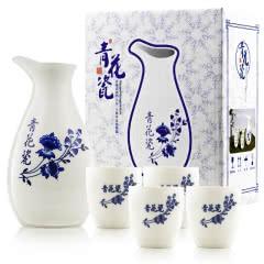 国风青花瓷酒具五件套