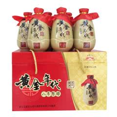 绍兴黄酒古越龙山八年陈黄酒年代370ml*6瓶礼盒装半甜型黄酒
