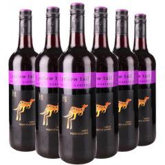 澳洲原瓶进口红酒 yellow tail澳大利亚黄尾袋鼠西拉加本力红葡萄酒750ml 6支