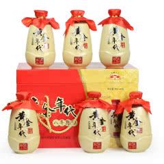 古越龙山绍兴黄酒黄金时代八年陈整箱礼盒装370mlx6瓶