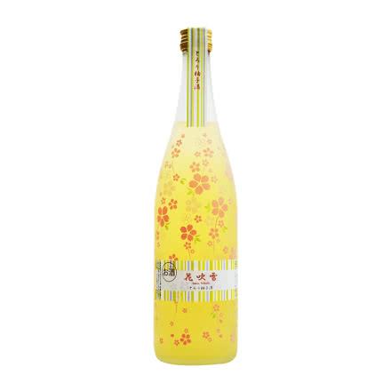 8°日本福井县花吹雪果肉柚子利口酒女士梅酒果味酒洋酒720ml