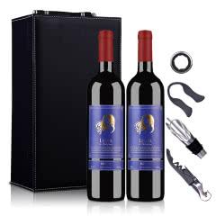 澳大利亚莱圣堡梅洛干红葡萄酒750ml*2礼盒套装