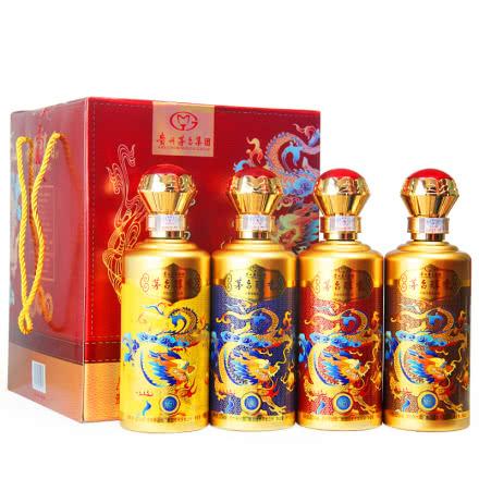 52°贵州茅台集团茅台醇香珍藏级N50柔雅浓香型白酒500ml*4瓶 礼盒装