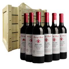 澳洲红酒HCN奔富408贵族西拉佳酿干红葡萄酒750ml*6支整箱送礼礼盒装(京东配送)