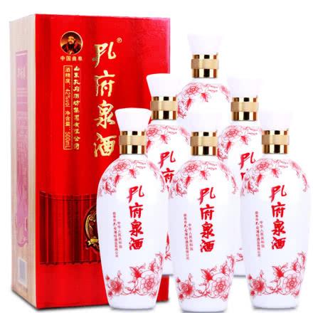 42°孔府泉浓香型白酒大福500ml(6瓶装)
