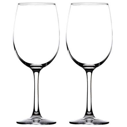 红酒杯葡萄酒杯高脚杯玻璃酒具375ml*2