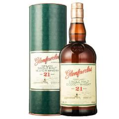 43°英国格兰花格21年单一麦芽威士忌700ml