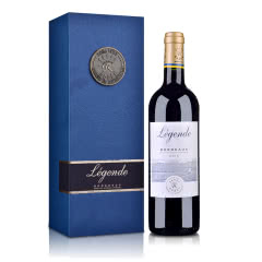 【礼盒】法国拉菲传奇波尔多2016红葡萄酒750ml+拉菲单支礼盒