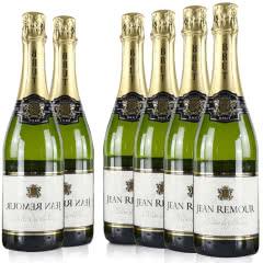 法国红酒整箱法国(原瓶进口)爱慕起泡干白葡萄酒750ml*6支装