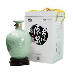 绍兴黄酒 古法原浆14度半干型手工糯米酒1.5L景德镇龙纹瓷坛礼盒装