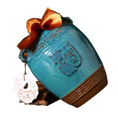 绍兴黄酒 蓝耳12度低糖半干型糯米花雕酒足量3斤瓷坛装