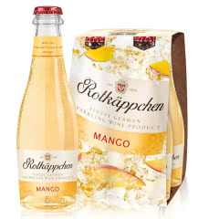 Rotkappchen/小红帽 德国原瓶进口红酒 甜起泡气泡葡萄酒200ml 芒果味4支