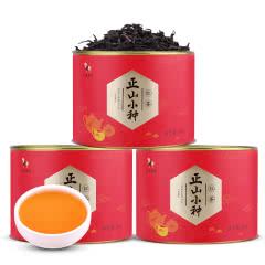 八马茶业 武夷正山小种红茶罐装茶叶自饮装80g*3罐  D0092-3