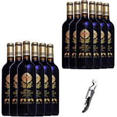 买一箱送一箱  法国原瓶进口AOC级博列诺干红葡萄酒红酒整箱750ml*6