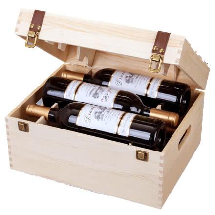 法国原酒进口醉慕红酒半干红葡萄酒整箱750ml*6木箱礼盒装红酒送礼
