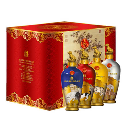52°五粮液 戊戌狗年生肖纪念酒 500ml*4瓶