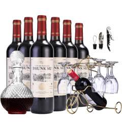 法国原酒进口甜红酒甜型半干红葡萄酒整箱6瓶6支装 750ml*6