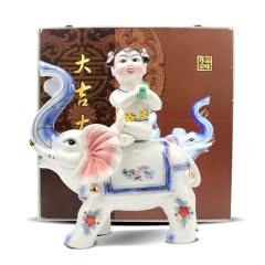 内蒙特产传奇狼图腾酒 60度1.5L高度白酒吉祥如意景德镇陶瓷瓶