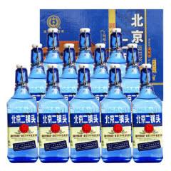 42°永丰牌北京二锅头出口型小方瓶纯粮酒蓝瓶500ml(12瓶装)白酒整箱