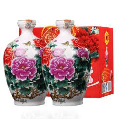 山西汾酒杏花村产地 53º花开富贵清香型原浆白酒750ml*2瓶
