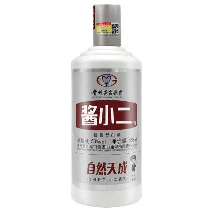 53°贵州茅台白金酒厂出品 酱小二酒 456ml 酱香型白酒