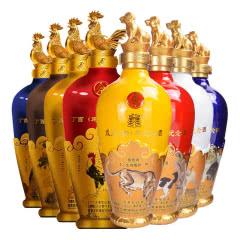 52° 五粮液丁酉鸡年生肖纪念酒+戊戌狗年纪念酒 500ml*4*2礼盒