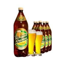 俄罗斯原装进口波罗的海大杯子淡爽清淡啤酒大桶装黄啤酒1.35L*6