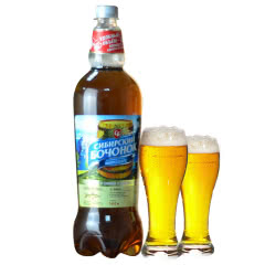 俄罗斯进口啤酒波罗的海西伯利亚经典高度啤酒1.42L*1瓶(熊标志)