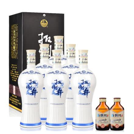 38°扳倒井青花瓷700ml(6瓶装)+42°扳倒井酒头酒100ml(2瓶装)