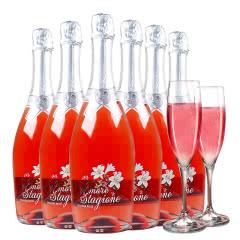 意大利原瓶进口万多恋爱季桃红气泡酒750ml(6瓶)