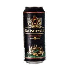 德国 凯撒啤酒 进口黑啤500ml*24听原装进口啤酒罐装大麦啤酒整箱