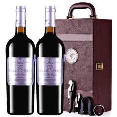 法国进口红酒卡斯特贝桐特选干红葡萄酒红酒礼盒装750ml*2