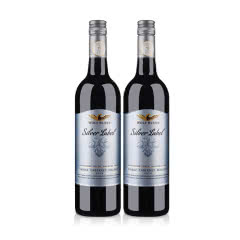 澳大利亚红酒纷赋银标西拉赤霞珠马尔贝克干红葡萄酒750ml 2支装+红酒杯+海马刀