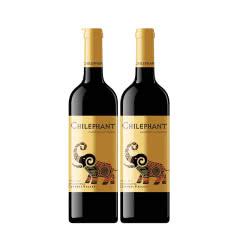 智利智象金标赤霞珠干红葡萄酒750ml*2瓶