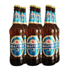俄罗斯原装进口波罗的海3号黄啤酒  450ml*6瓶