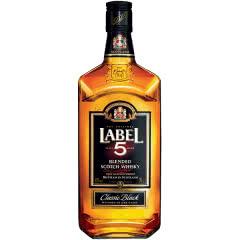 40°英国雷堡五星LABEL5苏格兰威士忌 原装进口700ml