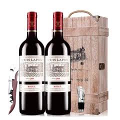 12°路易拉菲2009男爵古堡干红葡萄酒红酒礼盒木盒装 750ml*2