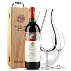法国原瓶进口红酒 木桐古堡红葡萄酒 1985年 木桐正牌 单支 750ml
