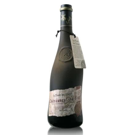 法国原瓶进口红酒教皇新堡芙华干红葡萄酒单支装750ml