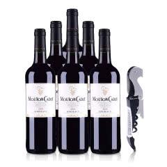 法国红酒套装木桐嘉棣红葡萄酒750ml*6+酒刀